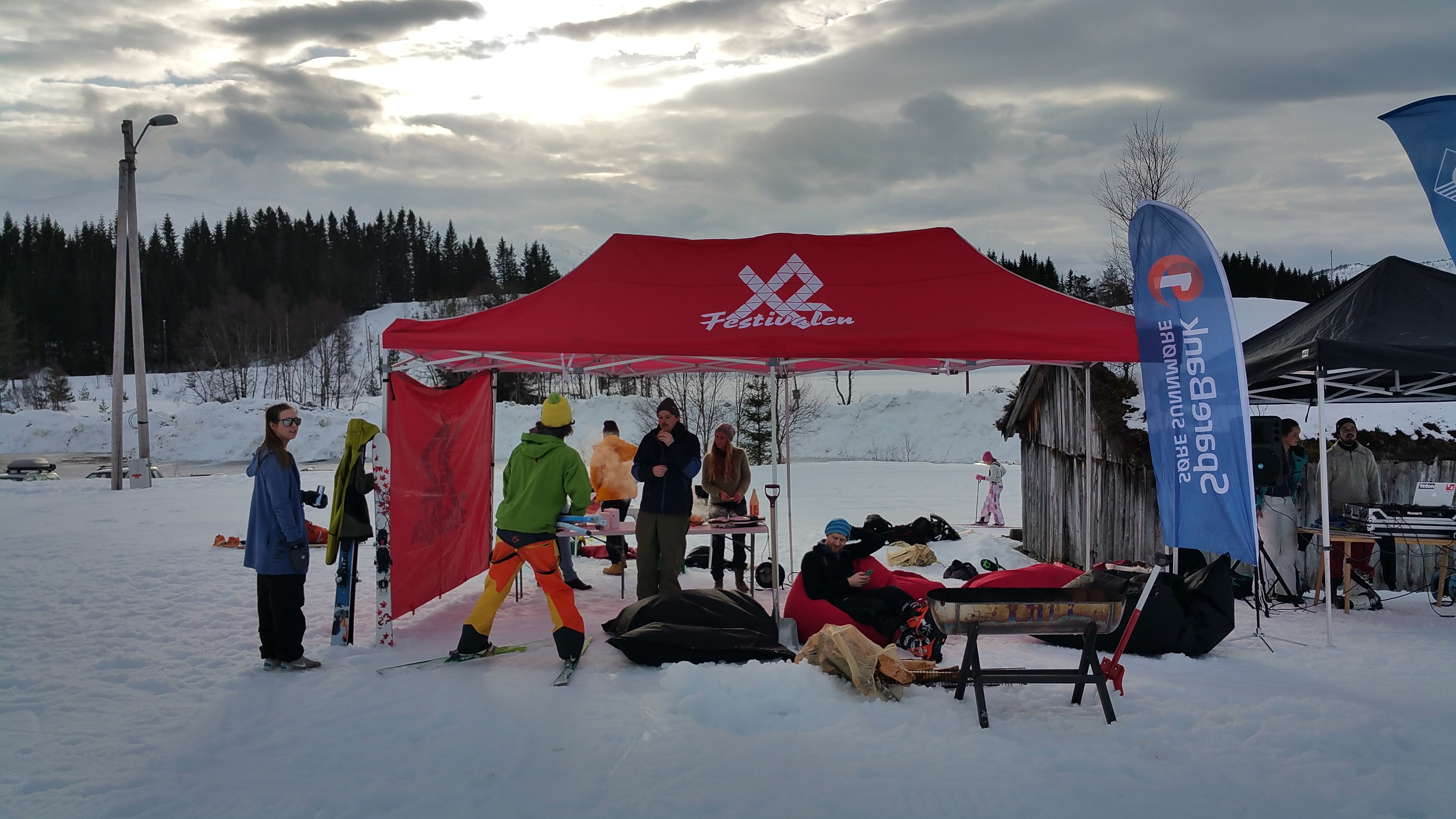 Skilounge under VEKAs skidag på Reset.